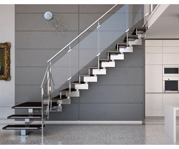 cầu thang inox kết hợp kính